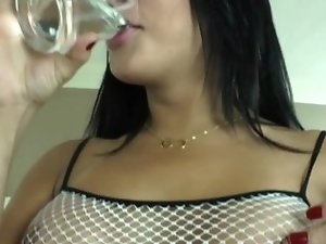 Brazilian tranny Beatricy Velmont jizzes